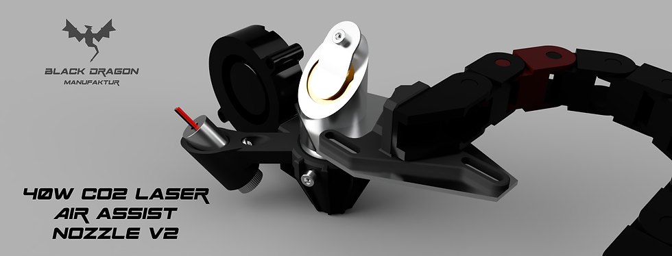 40W CO2 Laser Air Assist Nozzle v2