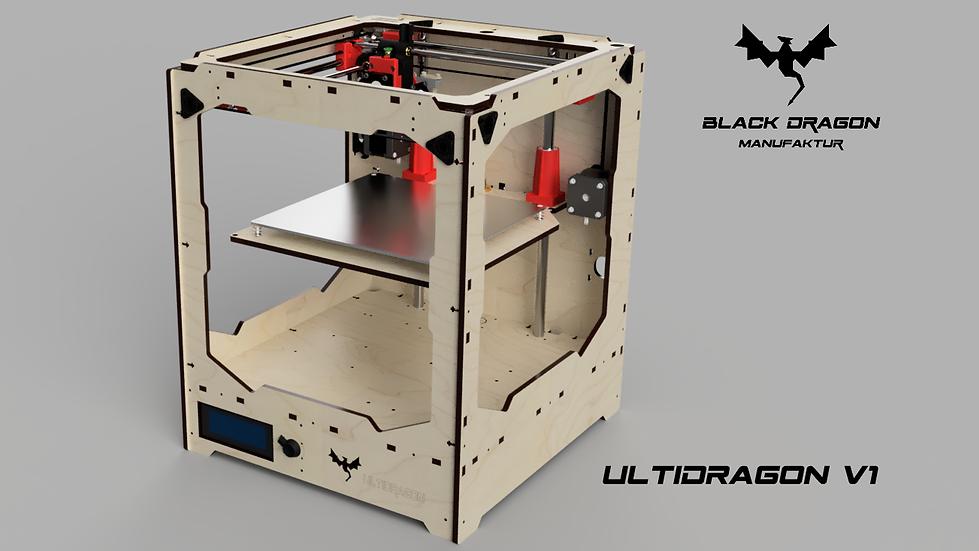DIY 3D Printer UltiDragon V1 Frame Kit with Ultimaker mechanics
