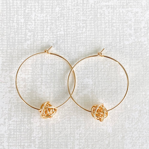Bird Nest / Hoop Gold