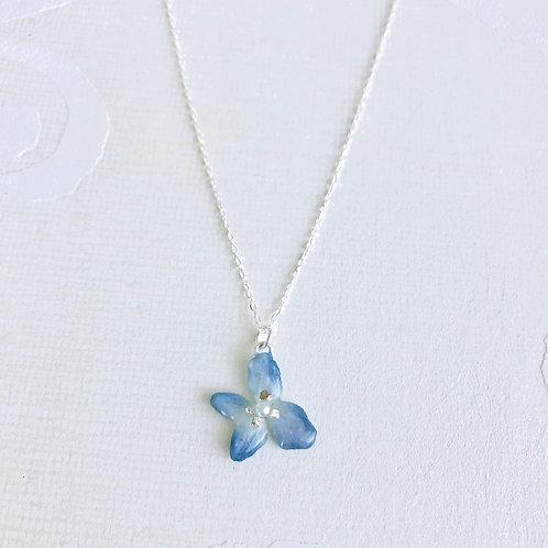 Hydrangea Silver Necklace