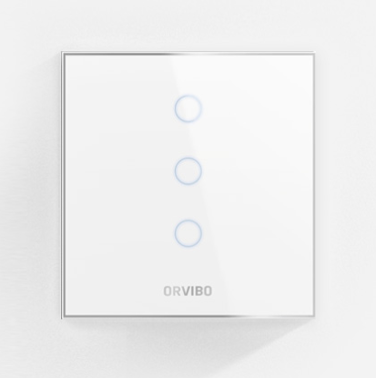 Orvibo-ZigBee Scene Switch(CN type neutral 100-240V) touch control, Glass panel