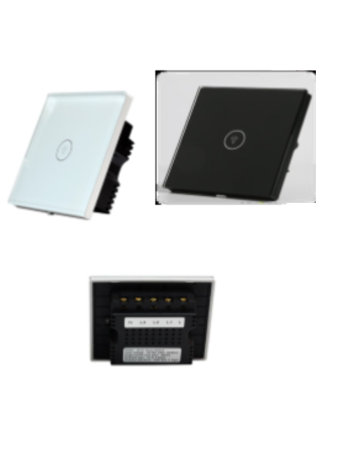 Wi-Fi Smart Touch Switch- 86*86*37mm-145g -(1 touch button)