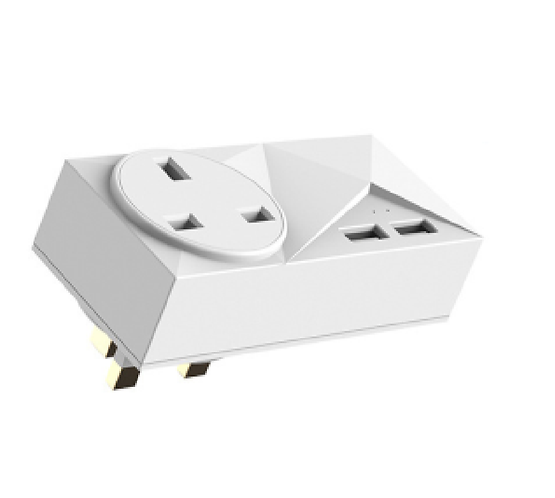 Smart Wifi socket with 2 USBs -ABS+PC (Flame retardant)