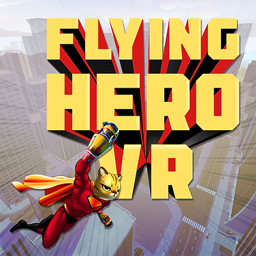 Flying Hero VR Logo - Squared