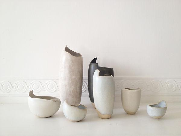 Louiselio céramiques, composition grès émaillé. Eliane Fievet.