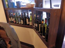 ウッドのワインボトル棚
