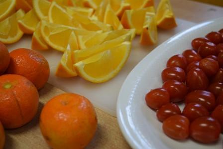 Obst, Gemüse und Milch