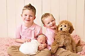 Lucy with 'her' kids.