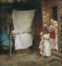 Кирилл Лемох. Новый член семьи. 1890. Ас