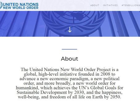 """С сайта ООН удалена страница проекта """"Новый мировой порядок"""""""