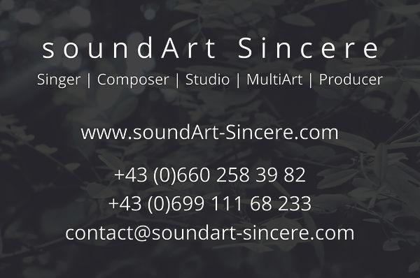 soundArt Sincere Visitenkarte