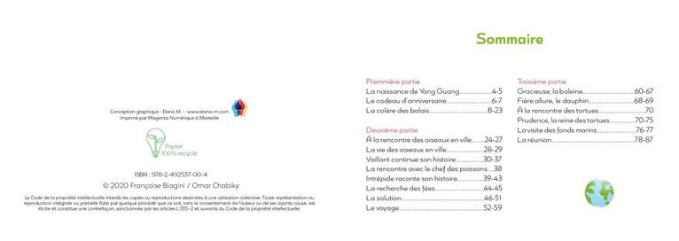 Maquette pour l'auteure Françoise Biagini et l'illustrateur Omar Chabiky, 2020.
