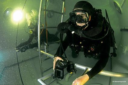 Frederic Bassemayousse - Photographe - Mi Air Mi Eau Photo, CEPHISMER, marine française, water chamber, water chamber diving test, diving test, test CRAB, plongeur démineur,