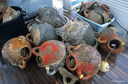 Frederic Bassemayousse - Photographe - Mi Air Mi Eau Photo, recovery, épave, wreck, antique wreck, épave etrusques, etruscan boat,