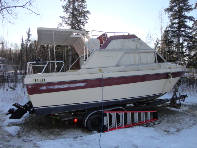 1978 Campion 25' glass hull boat