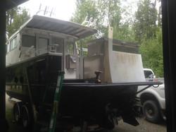 Roof, fish box, fuel tank