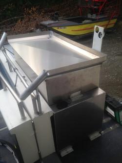 Fish box and fuel tank