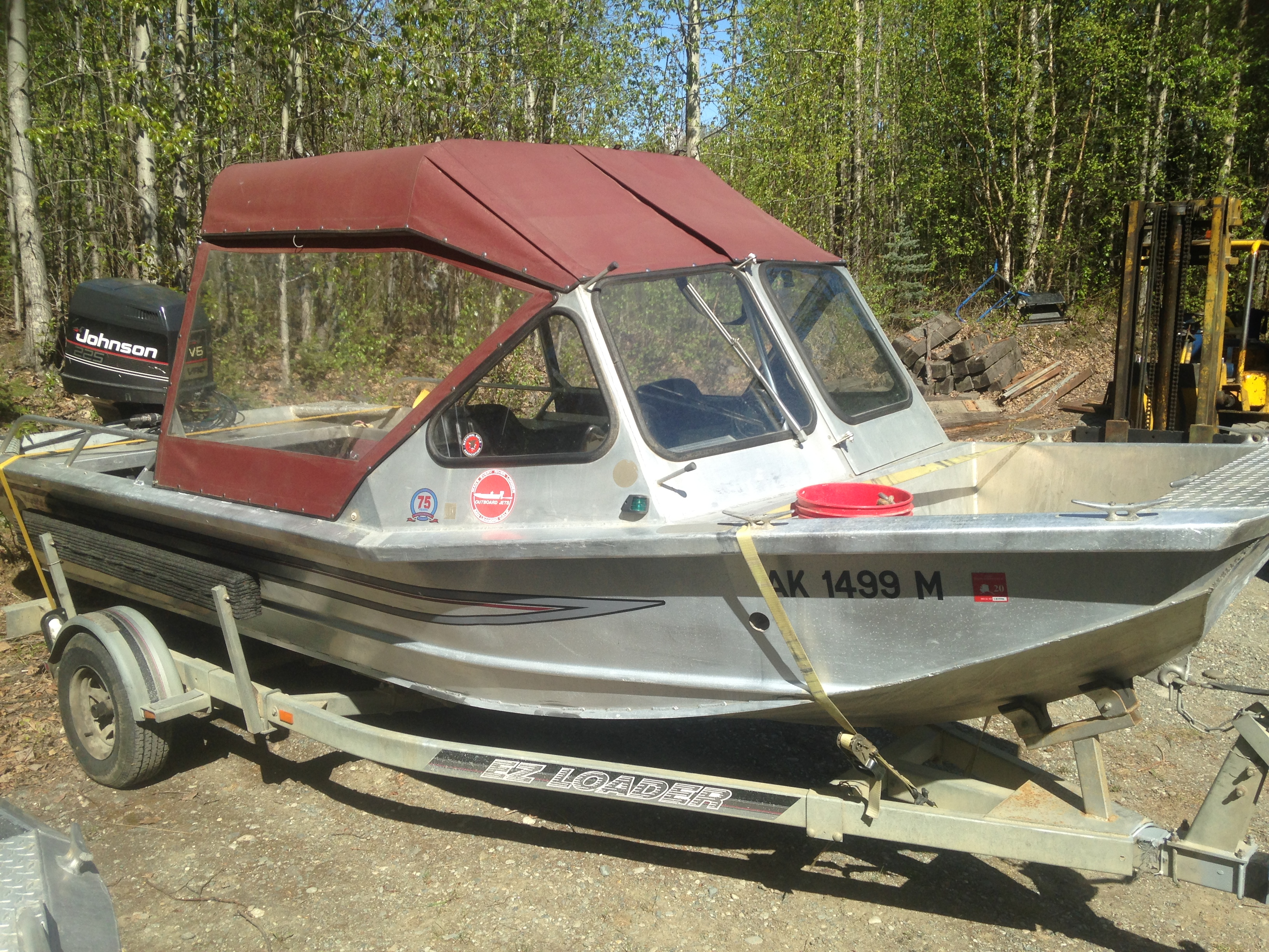 1990 Wooldridge XP 18' outboard Jet boat