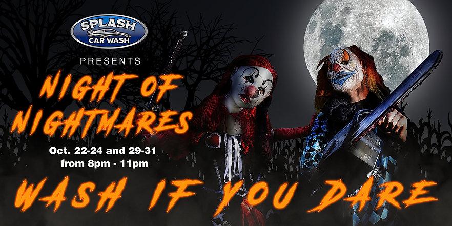 Night of Nightmares, Haunted Car Wash, Halloween, Halloween Carwash, Halloween Car Wash
