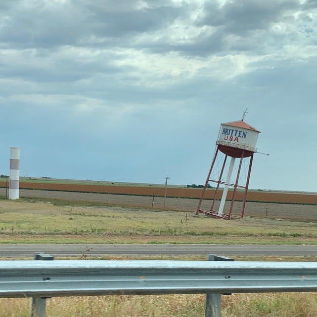 Leaning Tower of Texas in Groom, TX
