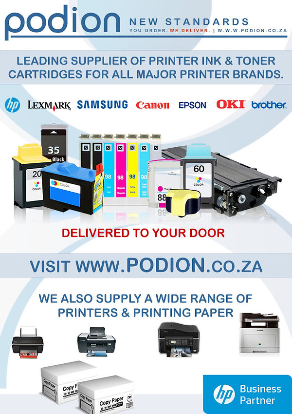 Podion delivers printer ink and toner cartridges at highly competitive prices in Western Cape and Gauteng.