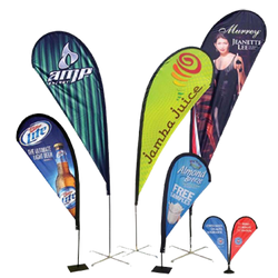 Teardrop Banners for Outdoors