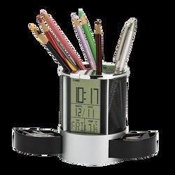 LCD Clock Desk Organiser