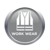 Workwear clothing including reflective jackets, overalls, saftey gear, hardhats, saftey shoes and more.