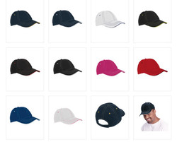6 Panel Microfibre Cap Colours