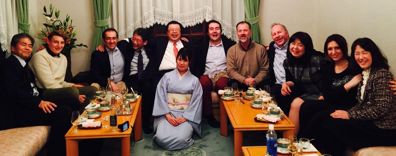 A dinner in Osaka with IIDA family