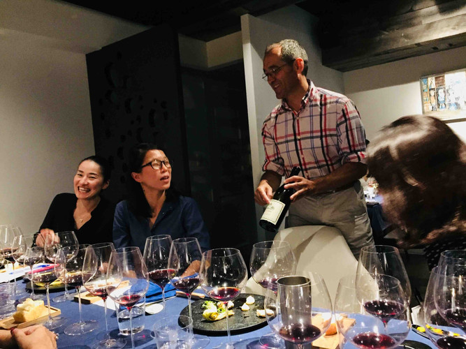 Dinner at L'Aube with Enoteca and Louis Barruol
