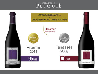 Terrasses and Artemia awarded at the Decanter World Wine Awards