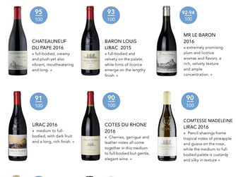 Great ratings for Montfaucon in The Wine Advocate