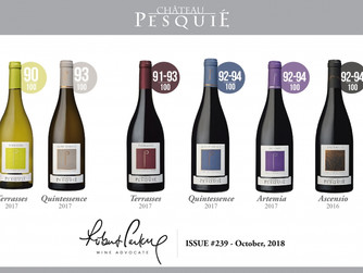 The Wine Advocate rates Pesquié's 2017 vintage