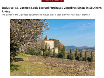 St.-Cosme's Louis Barruol Purchases Vinsobres Estate in Southern Rhône
