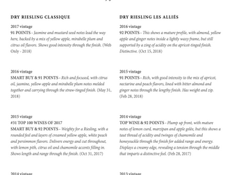 Forge Cellars Riesling Press Review