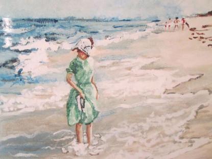Sandy on Beach