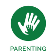 Parenting Icon - Secondary Green w text.