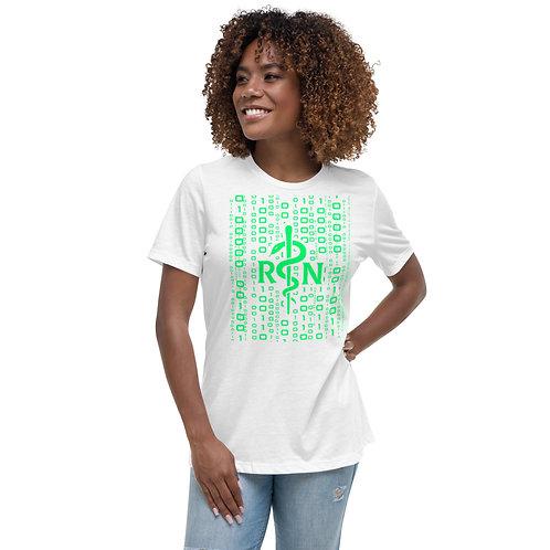 Women's Nursing Informatics -  Relaxed T-Shirt Green Asclepius