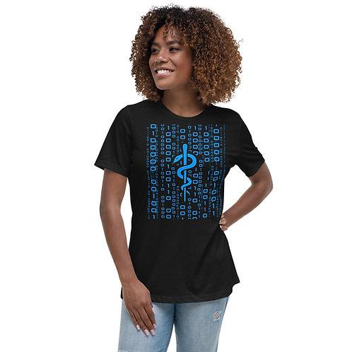 Women's Relaxed T-Shirt - Blue Asclepius
