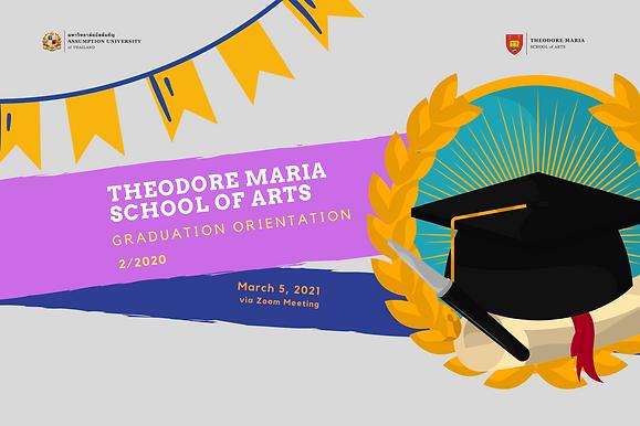 School of Arts Graduation Orientation 2/2020