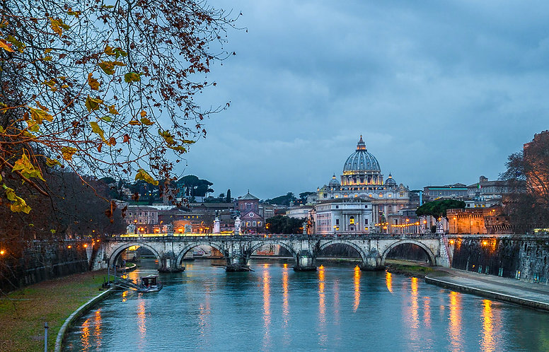 Vaticano y puente de Sant'Angelo