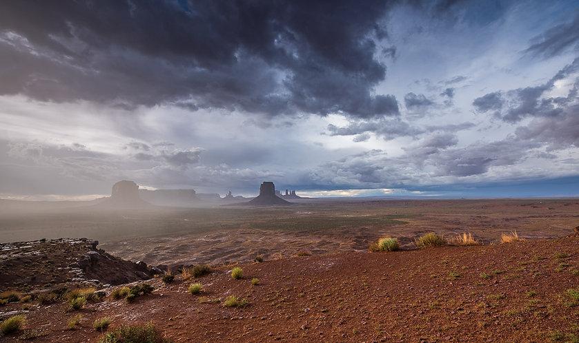 Tormenta sobre Monument Valley (USA)