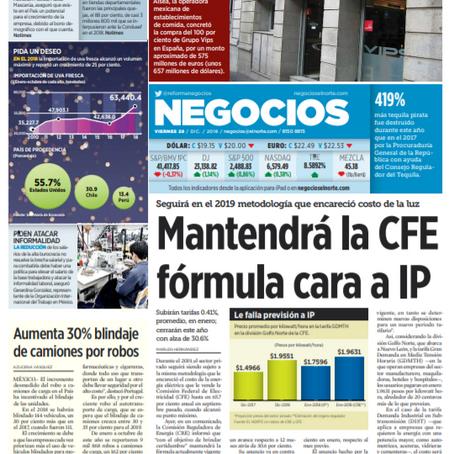 Seguirán incrementos en tarifas de CFE  para comercios, industrias y negocios.