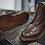 beautifully crafted  cool mens brown leather boots