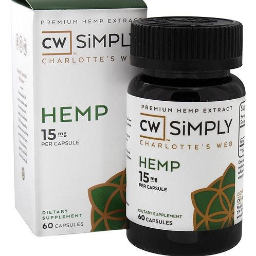 Simply Hemp Capsules - 15mg - 60ct