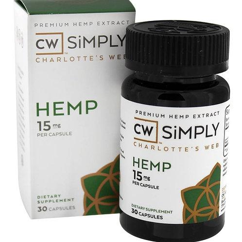 Simply Hemp Capsules - 15mg - 30ct