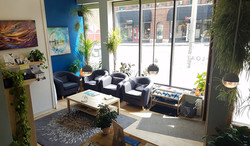 Our comfy, lively lobby