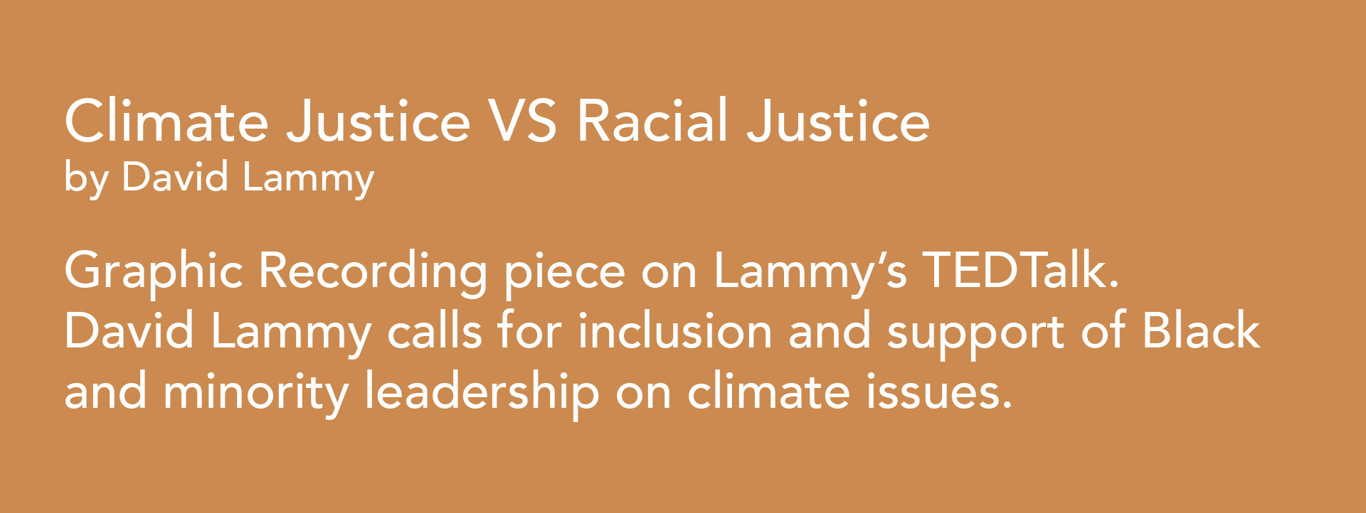 CLIMATE VS RACIAL JUSTICE