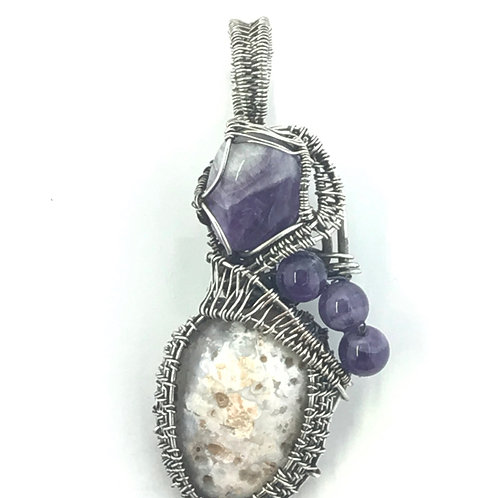Amethyst and Agate in Sterling Silver
